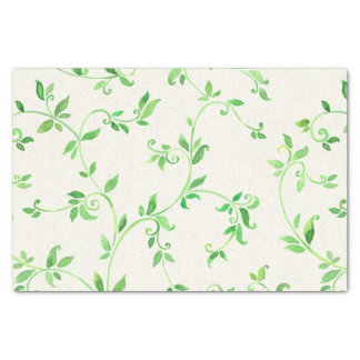 Watercolor leaves pattern tissue paper