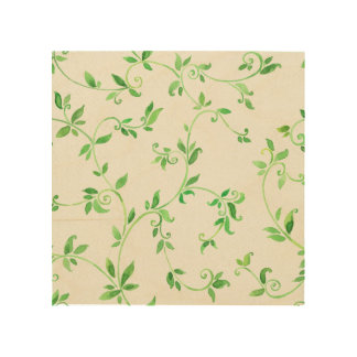 Watercolor leaves pattern wood canvases