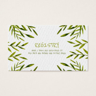 Watercolor Leaves Registry Card