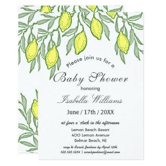 Watercolor Lemon Summer Baby Shower Invitation
