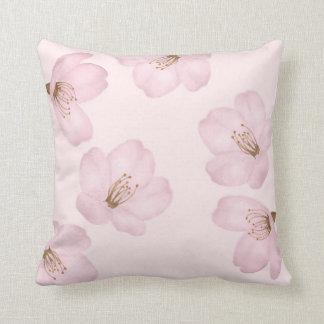 Watercolor Light Pink Cherry Blossom Sakura Pillow