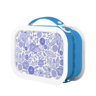 Watercolor Lilac flowers Lunch Box