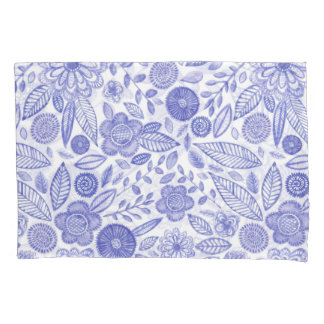 Watercolor Lilac flowers Pillowcase