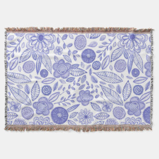 Watercolor Lilac flowers Throw Blanket