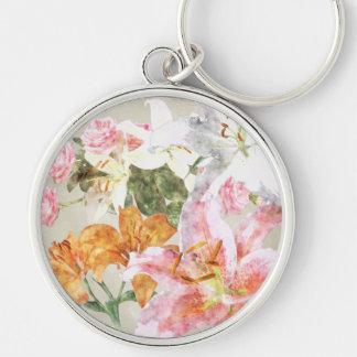 Watercolor Lilies Keychain