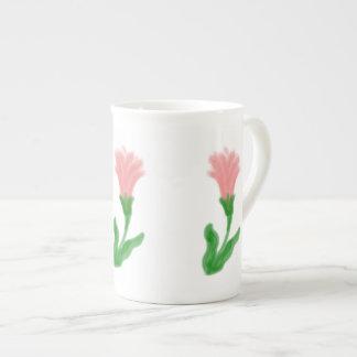 Watercolor Lily Bone China Mug Tea Cup