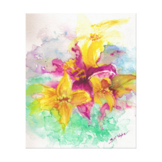 watercolor lily canvas