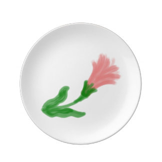 Watercolor Lily Small Porcelain Plate