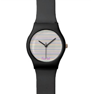 Watercolor lines watch