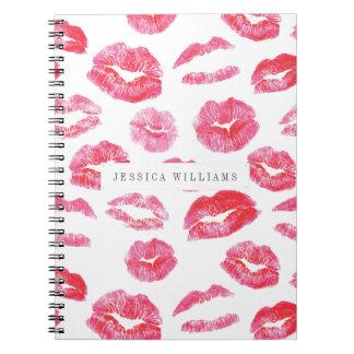Watercolor Lipstick Lipsense Notebook