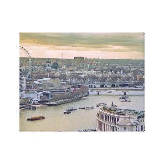 Watercolor London Canvas Print