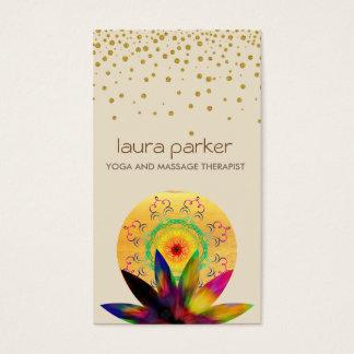 Watercolor Lotus Flower Logo Yoga Healing Health