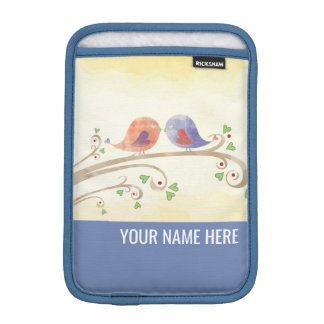 Watercolor Love Birds iPad Mini Sleeve