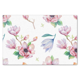 Watercolor Magnolia Tissue Paper
