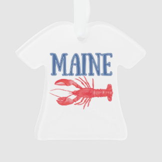 Watercolor Maine Lobster Ornament