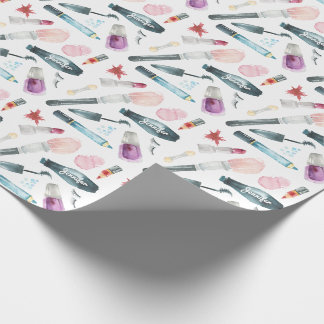 Watercolor Make Up Wrapping Paper