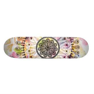 Watercolor Mandala 20.6 Cm Skateboard Deck