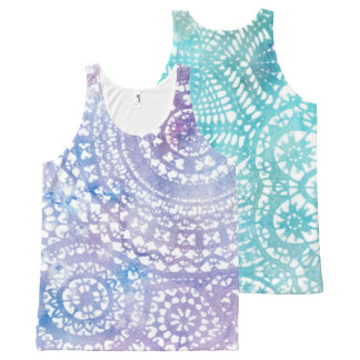 Watercolor Mandala Doily All-Over Print Tank Top