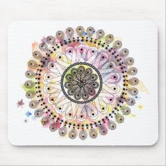 Watercolor Mandala Mouse Mat