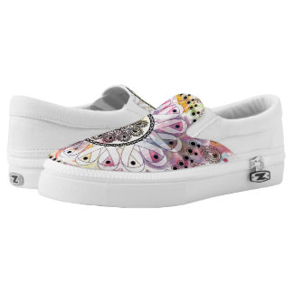 Watercolor Mandala Slip-On Shoes