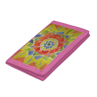 Watercolor mandala Wallet