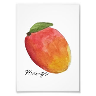 Watercolor Mango Print Photo