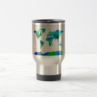 Watercolor Map of the World Map Coffee Mug