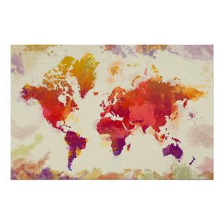 Abstract map posters from Zazzle