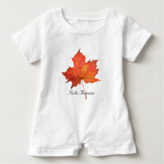 Watercolor Maple Leaf Baby Bodysuit