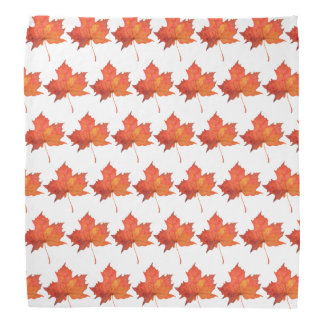 Watercolor Maple Leaf Bandana