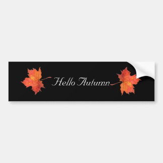 Watercolor Maple Leaf Bumper Sticker