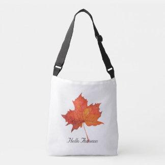 Watercolor Maple Leaf Crossbody Bag