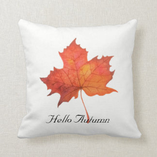 Watercolor Maple Leaf Cushion