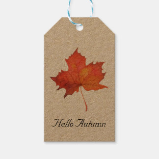 Watercolor Maple Leaf Gift Tags