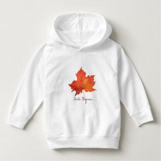 Watercolor Maple Leaf Hoodie