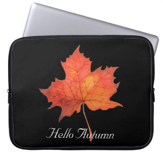 Watercolor Maple Leaf Laptop Sleeve