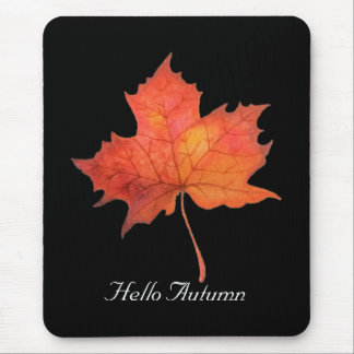 Watercolor Maple Leaf Mouse Mat