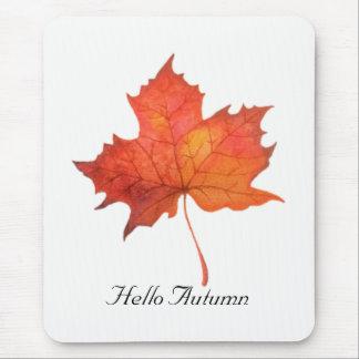 Watercolor Maple Leaf Mouse Mat