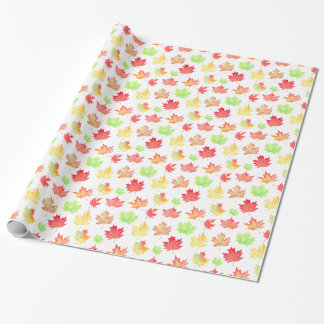Watercolor maple leaf pattern wrapping paper