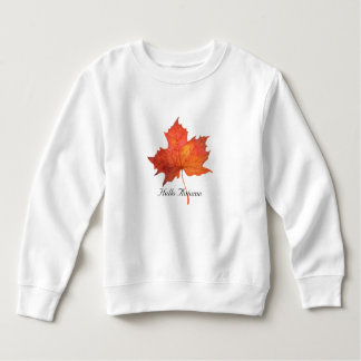 Watercolor Maple Leaf Sweatshirt