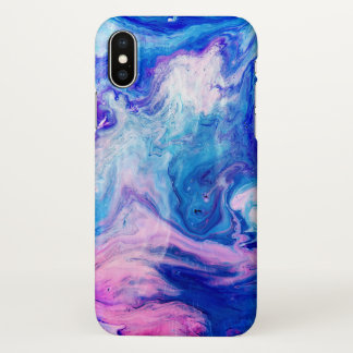 Watercolor Marble Texture Pattern iPhone X Case