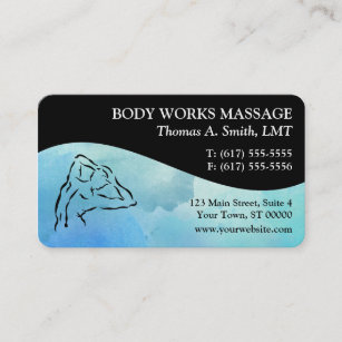 Massage therapy business cards business card printing zazzle uk watercolor massage therapy business cards colourmoves