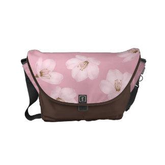 Watercolor Mauve Cherry Blossom Messenger Bag