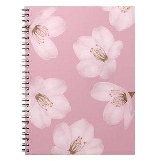 Watercolor Mauve Cherry Blossom Sakura Notebook