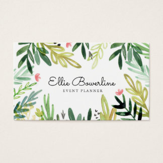 Watercolor Meadow Business Card