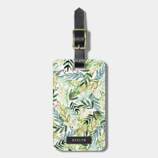 Watercolor Meadow Luggage Tag