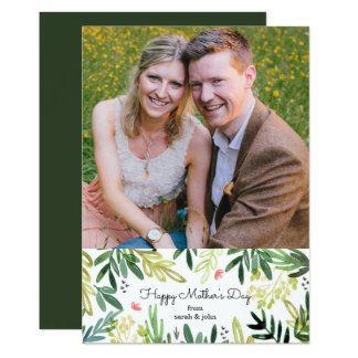 Watercolor Meadow Mother's Day Photo Card
