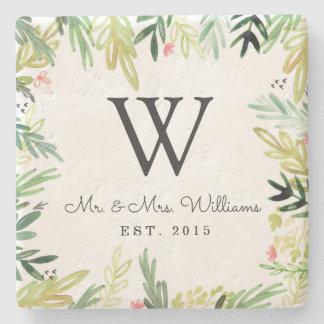 Watercolor Meadow Stone Coaster