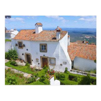 Watercolor Mediterranean house Postcard