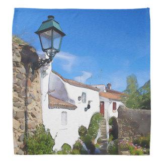 Watercolor Mediterranean village Bandanas
